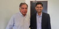 RatanTata with Rahul Garg, Founder and CEO, MOglix