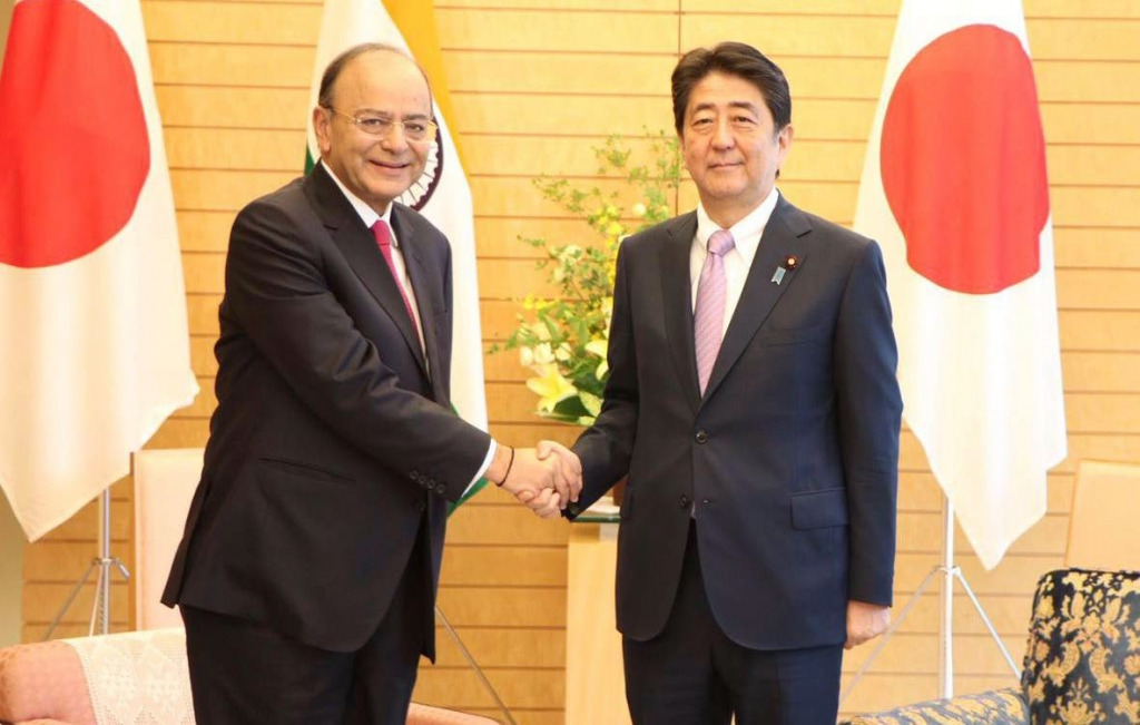 Narendra Modi with Shinzō Abe Japan Prime Mnister
