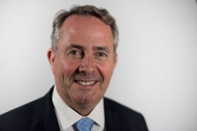 Liam Fox, Secretary of State for International Trade in the UK Cabinet.