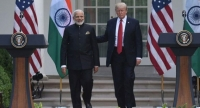Narendra Modi with Donald Trump US president