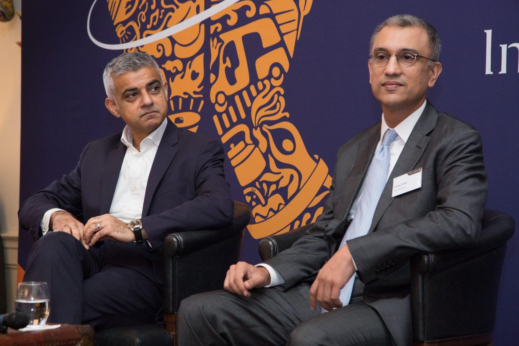 Dube with London Mayor Sadiq Khan