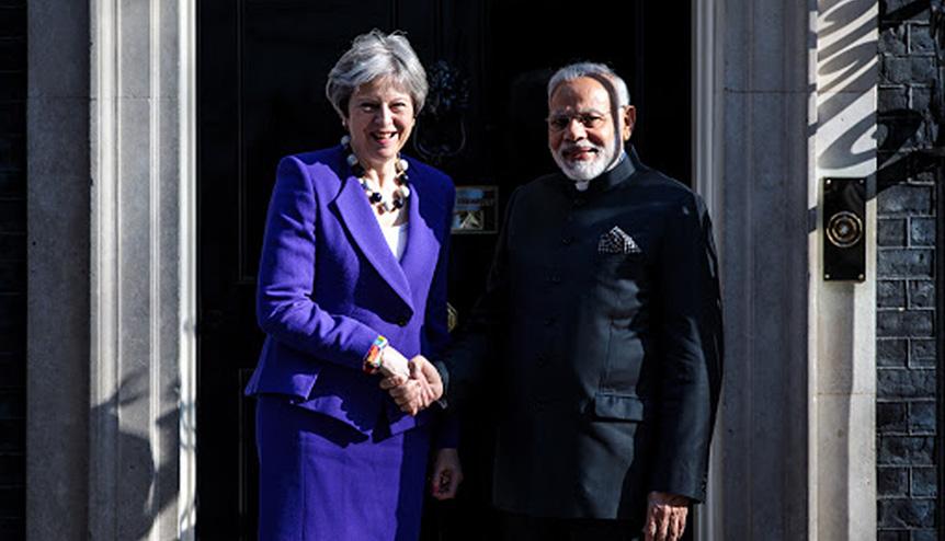 PM of India, Narendra Modi, meets PM of UK, Theresa May