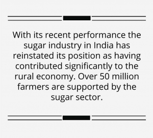 Indian sugar industry is posting sweet export numbers