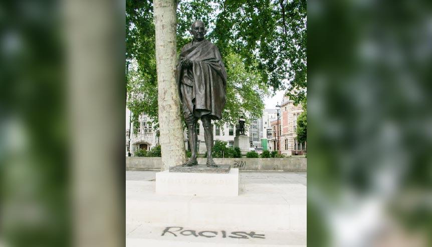 Gandhi statue graffiti evokes diaspora anger