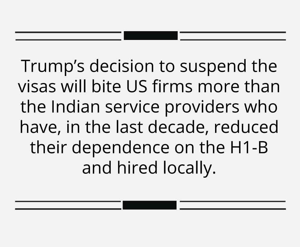 H1-B visa ban could turn around to bite Trump