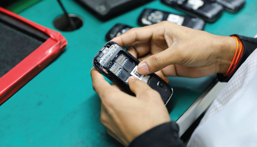 India is the world's second largest maker of mobile phones