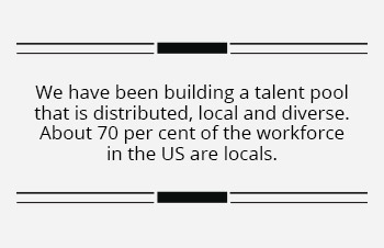 Wipro has continued to create local jobs in the US
