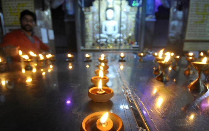 Prayers and lamps mark new Indian temple celebrations in UK