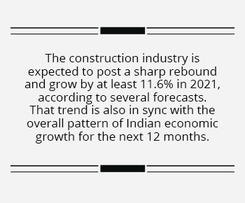 India's construction industry set for a rebound in 2021
