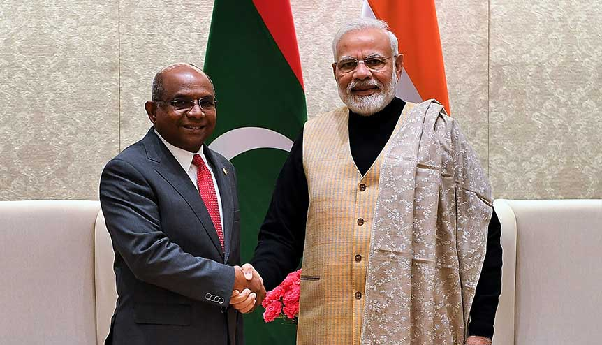 India steps up its economic aid to Maldives