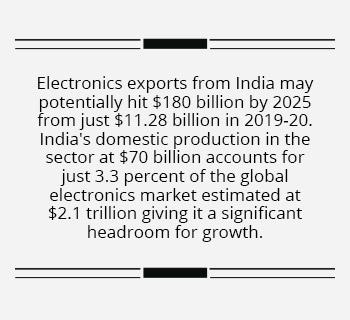 India on path to becoming global hub for electronics