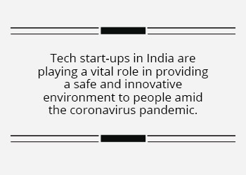 Start-ups keep businesses rolling in India during a pandemic