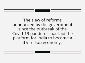 Self-Reliant India paves its way to the 5-trn GDP dream